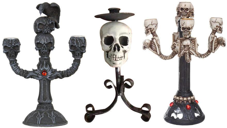 candelabros de calaveras