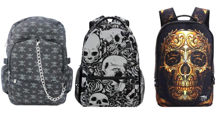 mochilas de calaveras