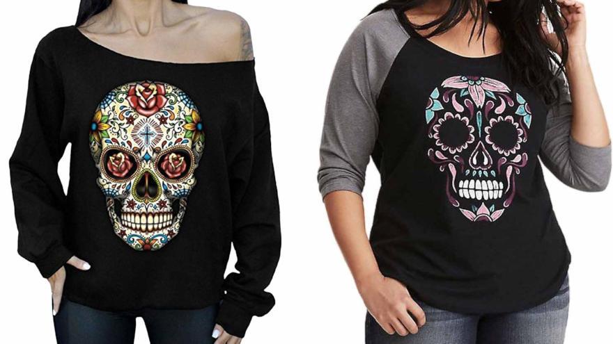 camisetas calaveras mexicanas mujer