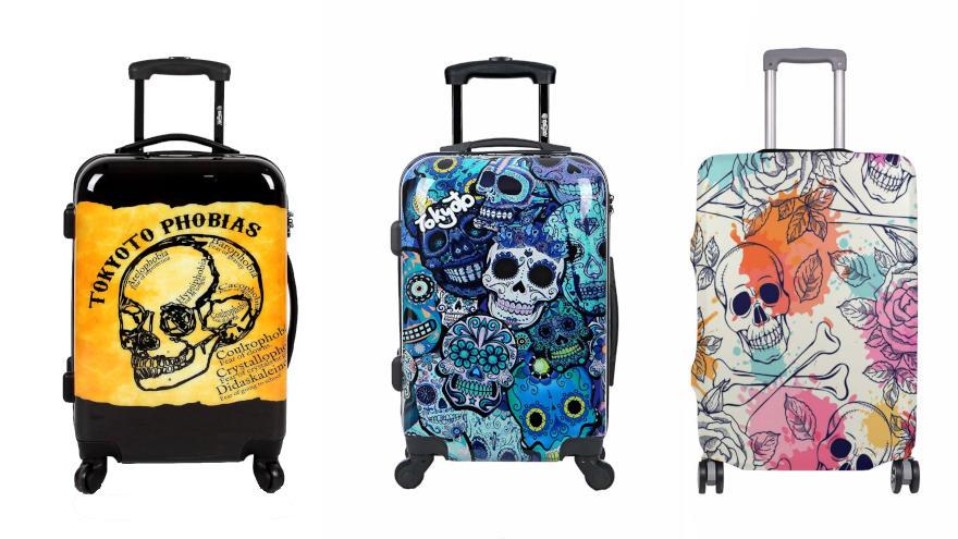 maletas de calaveras