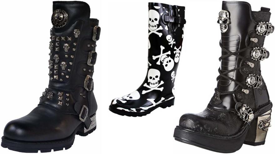 botas de calaveras
