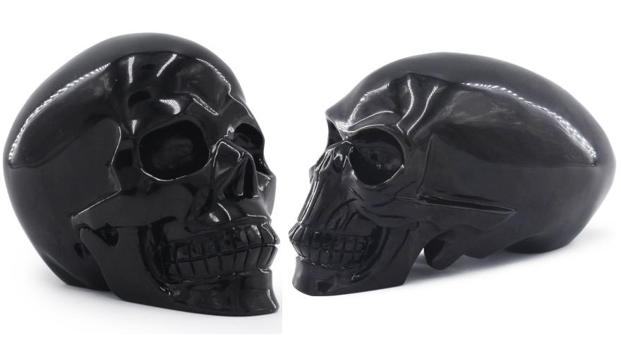 calaveras negras de obsidiana